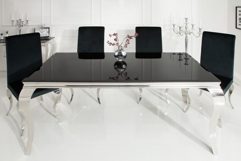 Jídelní stůl Modern Baroque 180cm černý / 36544