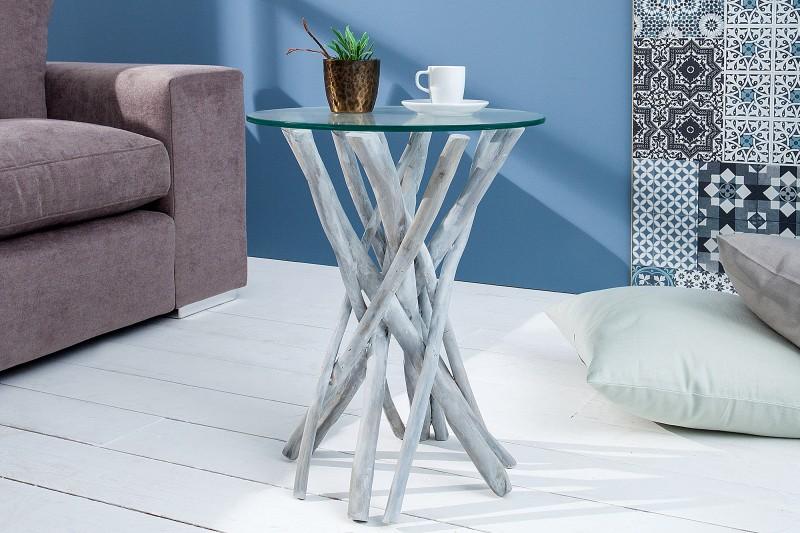 Konferenční stolek Driftwood 35cm - šedý / 37440