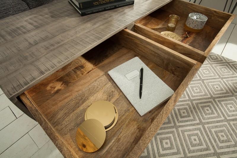 Konferenční stolek Scorpion 100cm x 50cm - šedé mango  / 38645