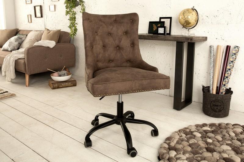 Kancelářská židle Victoria - tmavě hnědá / 38793