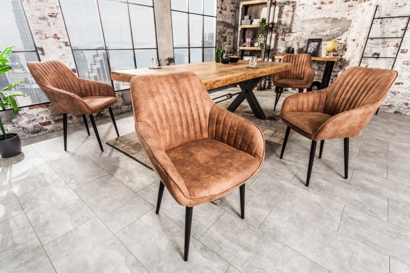 Jídelní židle Monroe - vintage světle hnědá / 38789