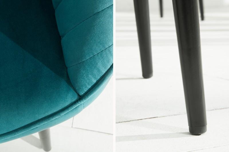 Jídelní židle Monroe - tyrkysová, samet / 38788