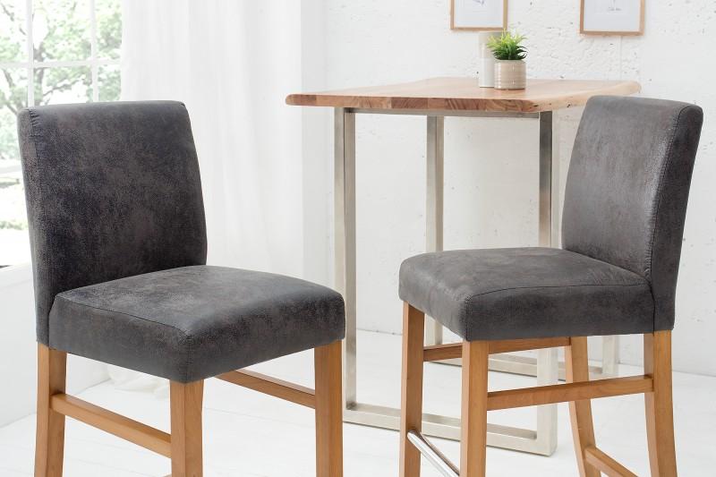 Barová židle Casa šedá vintage / 38569