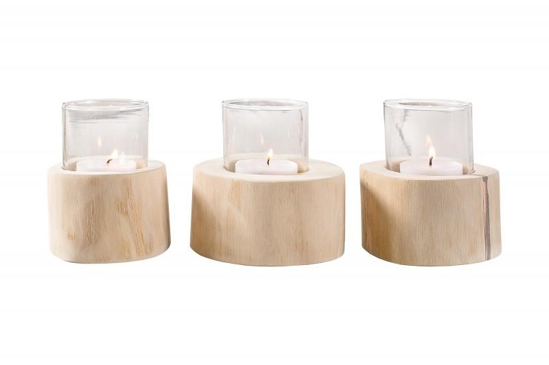 Limotionová svíčka 3ks -  teak / 38247