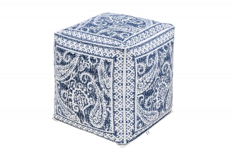 Podnožka Oriental 52cm - modrá, bílá / 39020