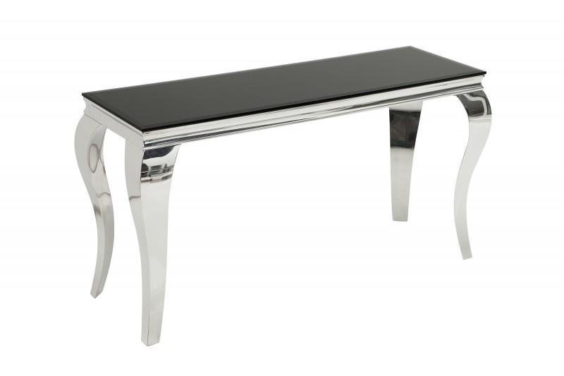 Toaletní stolek Giacomo 140cm x 50cm - černá, stříbrná / 36545
