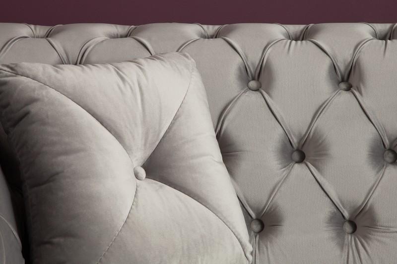 Pohovka Euphoria 230cm - stříbrno-šedá, samet / 38218