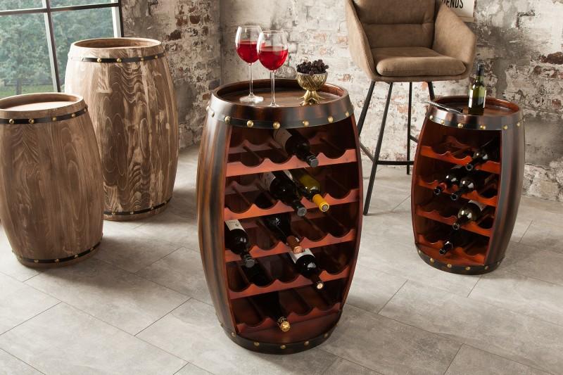 Stojan na víno Tiago 80cm - hnědá / 38961