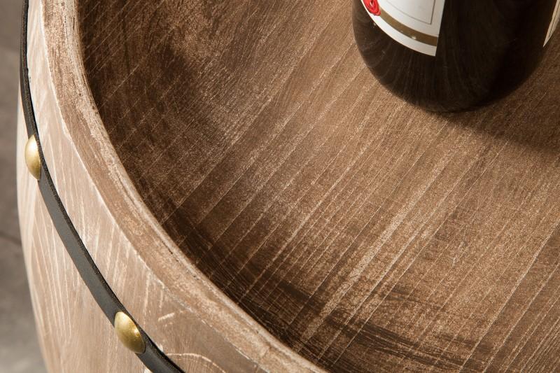 Regál na víno Tiago 50cm x  80cm - přírodní / 38962
