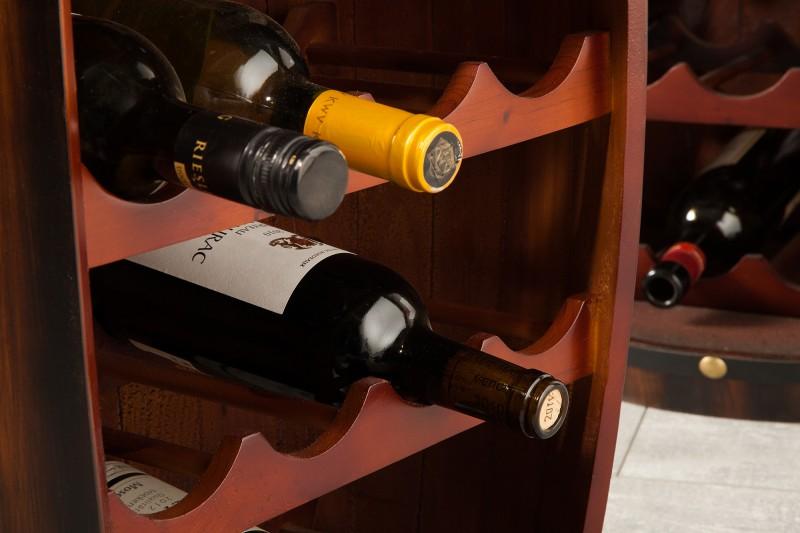 Stojan na víno Tiago 60cm - hnědá / 38963