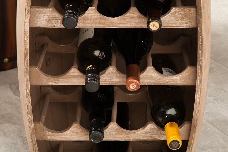 Regál na víno Tiago 40cm x 64cm - přírodní / 38964