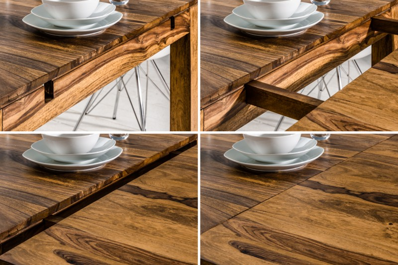 Jídelní stůl Hidalgo XXL 160-240 cm x 100cm - Sheesham / 35299