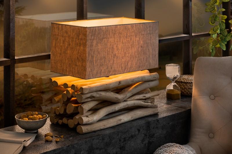 Stolní lampa Euphoria II - naplavené dřevo / 39247