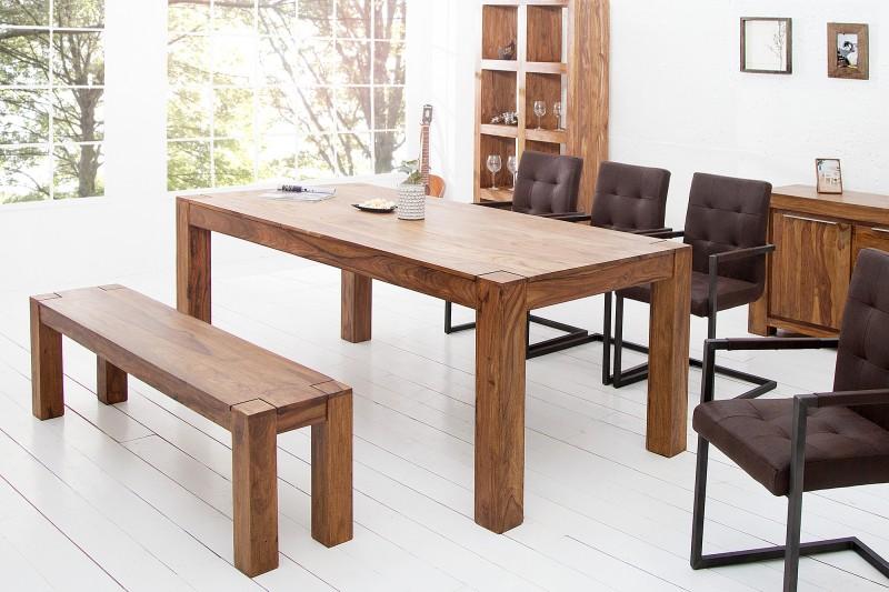 Jídelní stůl Fortaleza 160cm x 90cm - Sheesham / 39362