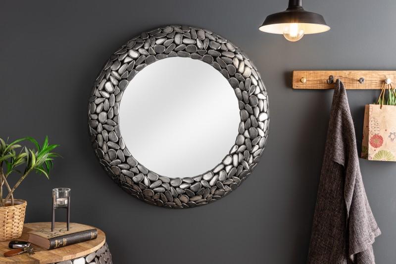 Nástěnné zrcadlo Mirror Stone Mosaic 82cm - stříbrné / 38724