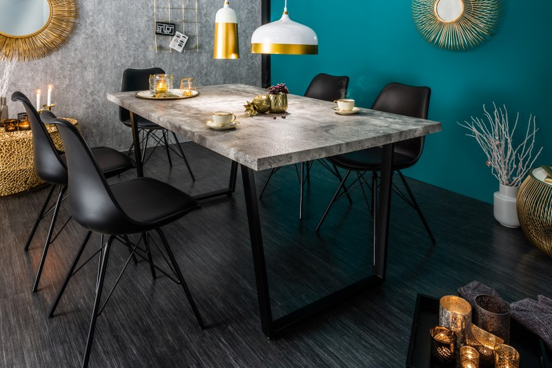Jídelní stůl Ruby 160cm - betonový vzhled/ 38956