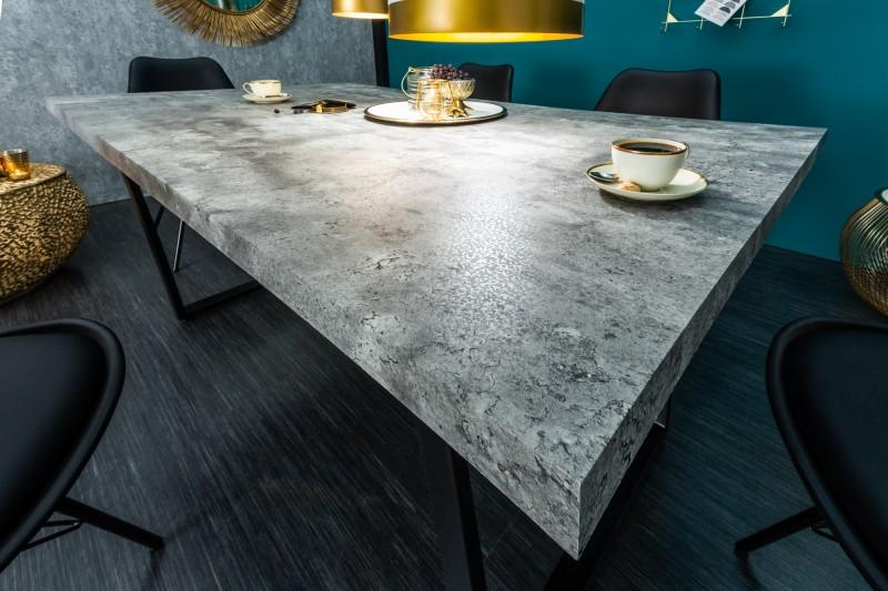 Jídelní stůl Ruby 160cm x 90cm  - betonový vzhled / 38956