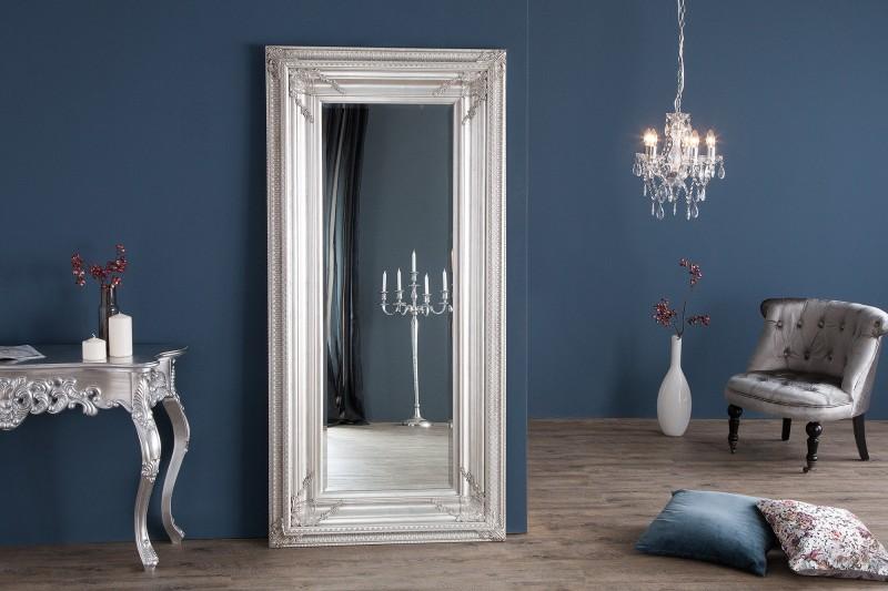 Stojanové zrcadlo Renaissance 180cm - stříbrné / 8885