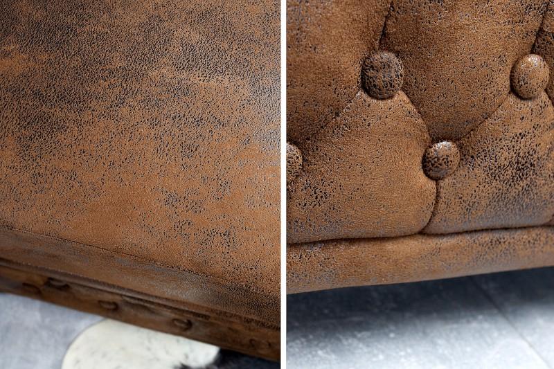 Křeslo Chesterfield - vintage hnědá / 17383