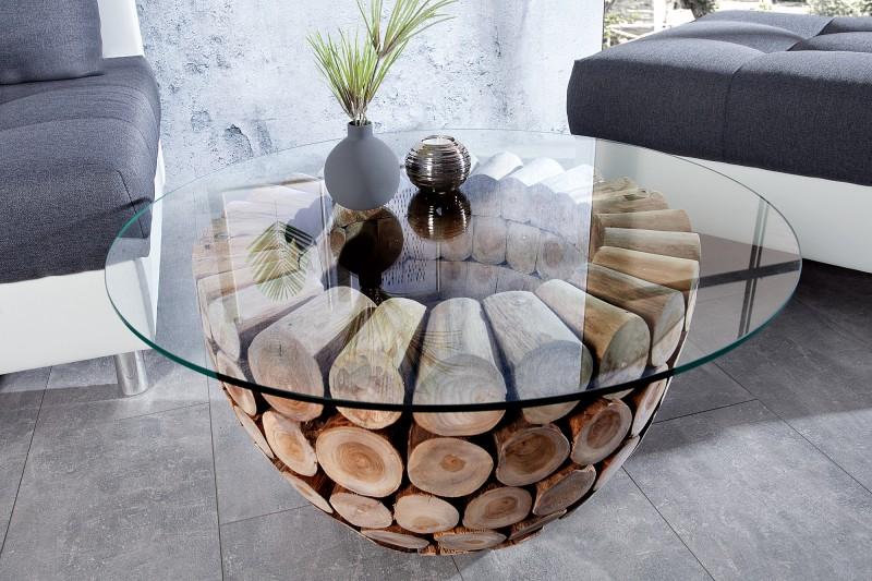 Konferenční stolek Caruaru 70cm x 70cm - teak / 37442-1