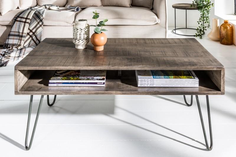 Konferenční stolek Scorpion 100cm x 50cm - šedé mango / 38946