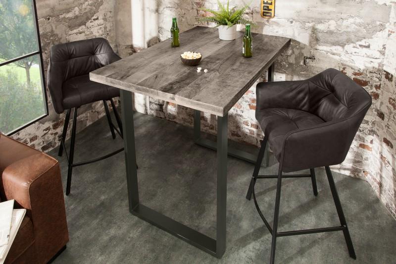Barový stůl Iron Craft 120cm šedé mango / 38667