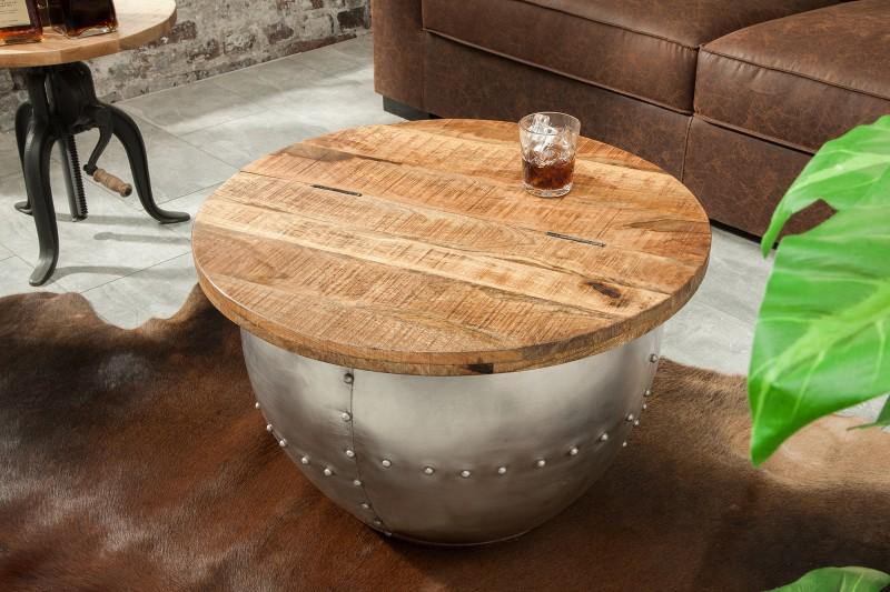 Konferenční stolek Steel Desk 68cm - přírodní mango / 38949
