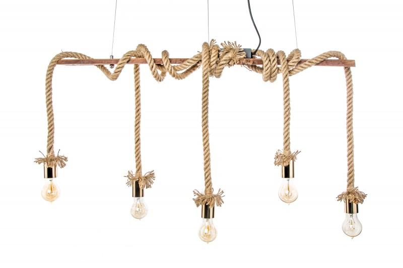 Závěsná lampa Sadie II - 110cm- přírodní lano / 39155