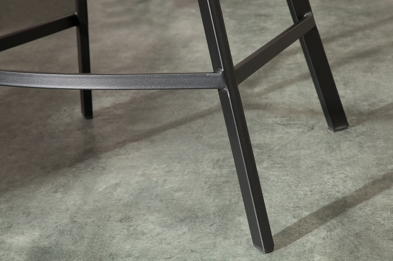 Barová židle Telma - světle šedá, samet / 39079