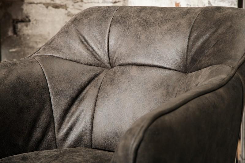 Barová stolička Telma šedá loketní opěrka / 39080