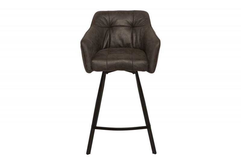 Barová stolička Telma starožitná šedá loketní opěrka / 39081