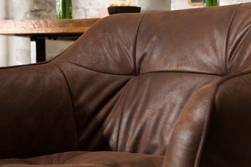 Barová židle Telma - starožitná hnědá / 39082