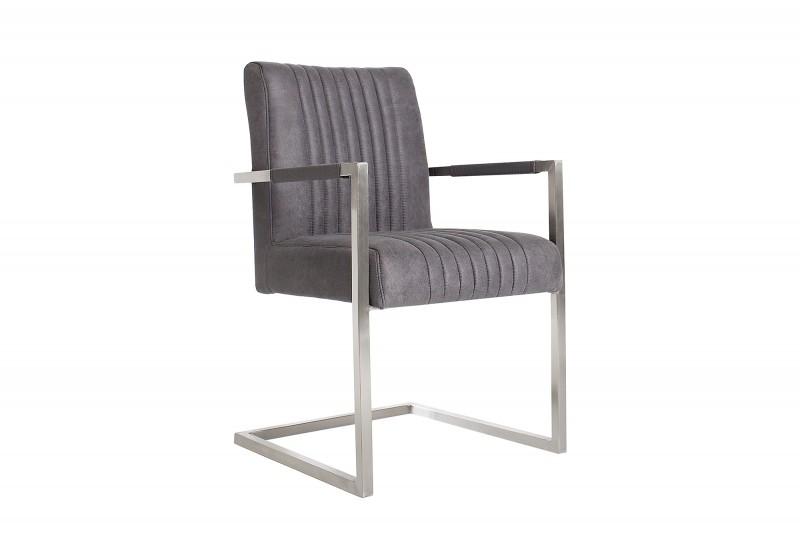 Konzolové židle Big Aston vintage šedé rameno ./ 39085
