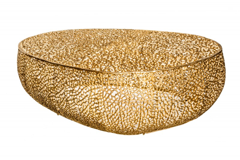 Konferenční stolek Leaf 122cm zlatá / 38938