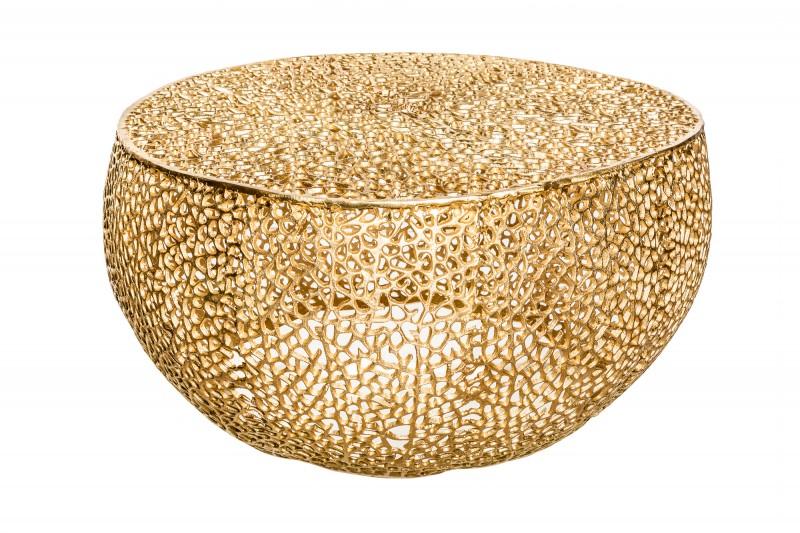 Konferenční stolek Collin 80cm x 80cm - zlatý / 38940