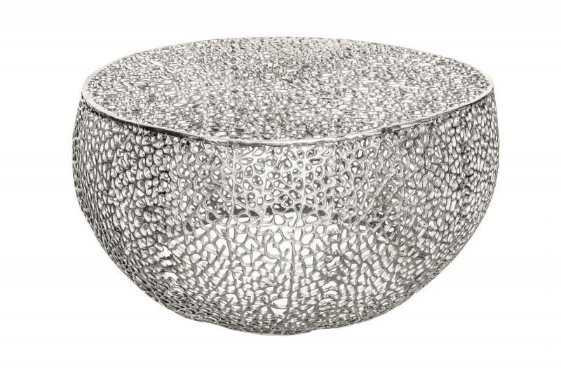 Konferenční stolek Collin 80cm x 80cm - stříbrný / 38941