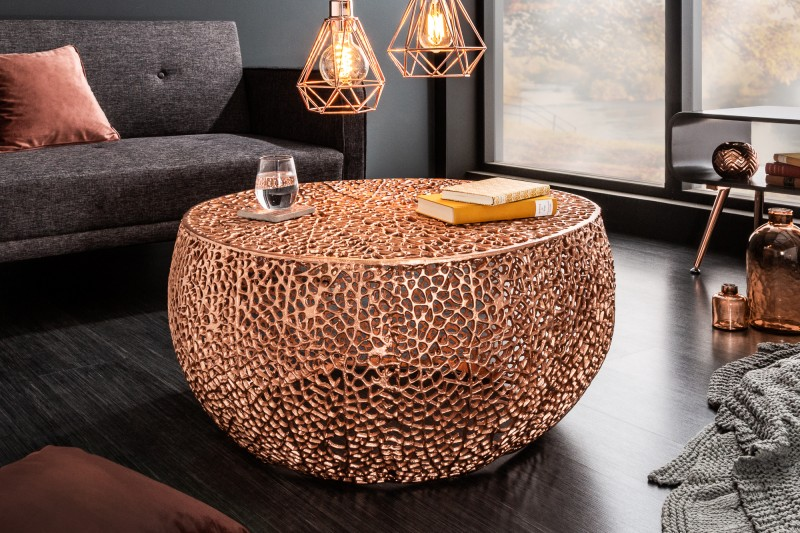 Konferenční stolek Collin 80cm x 80cm - měď / 38942