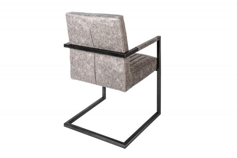 Konzolové židle Big George vintage šedá / 39128