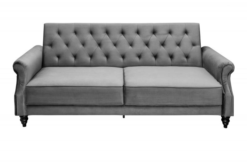 Pohovka Maison Belle II - rozkládací 220cm šedá, samet / 39175