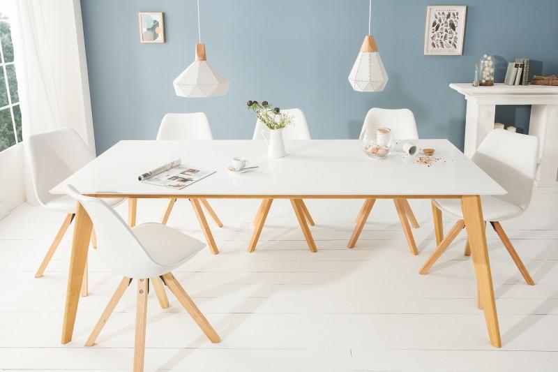 Jídelní stůl Skandinávie 200cm bílá / 39208