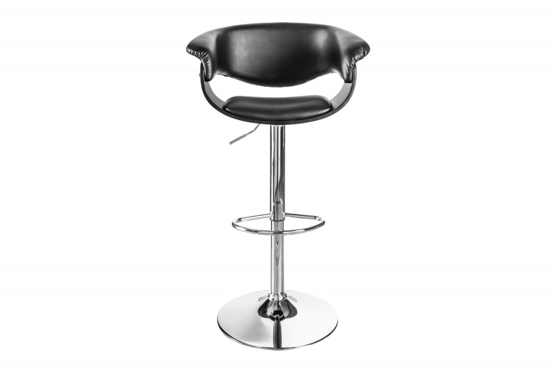 Barová židle Liam 110cm černá stříbrná / 39041