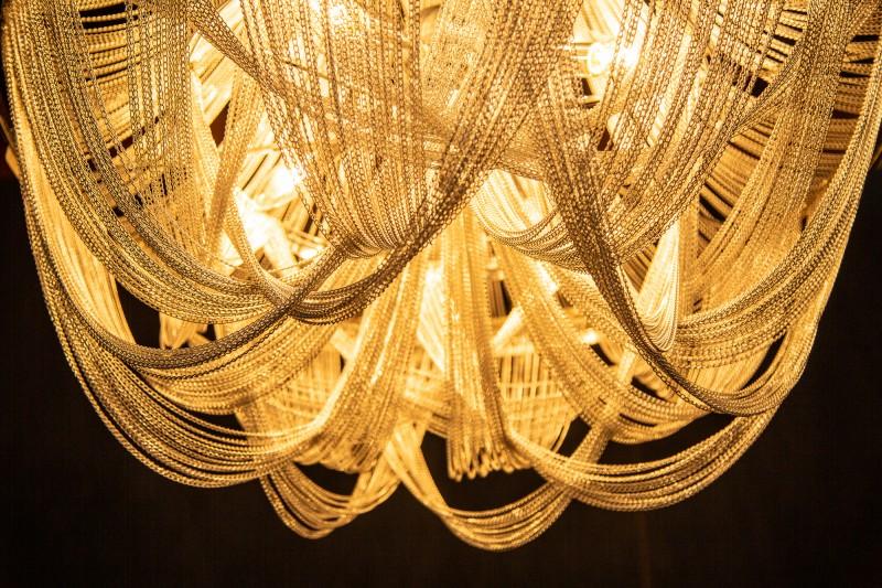 Závěsné světlo Colton 70cm - stříbrné / 39096
