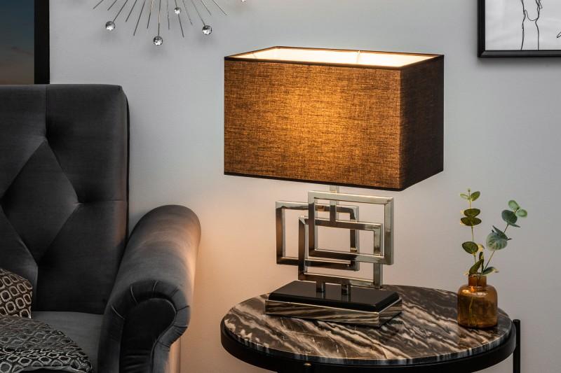 Stolní lampa Leonor 56cm - stříbrná / 39097