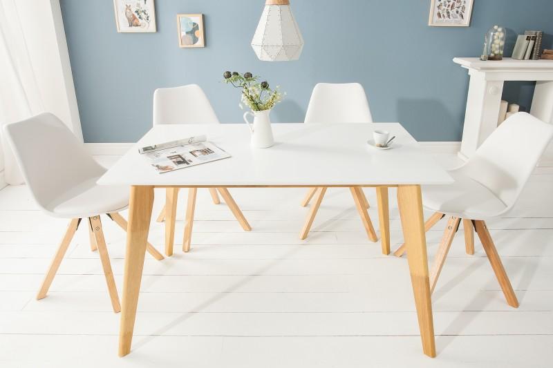 Jídelní stůl Skandinávie 120 cm bílá / 39204