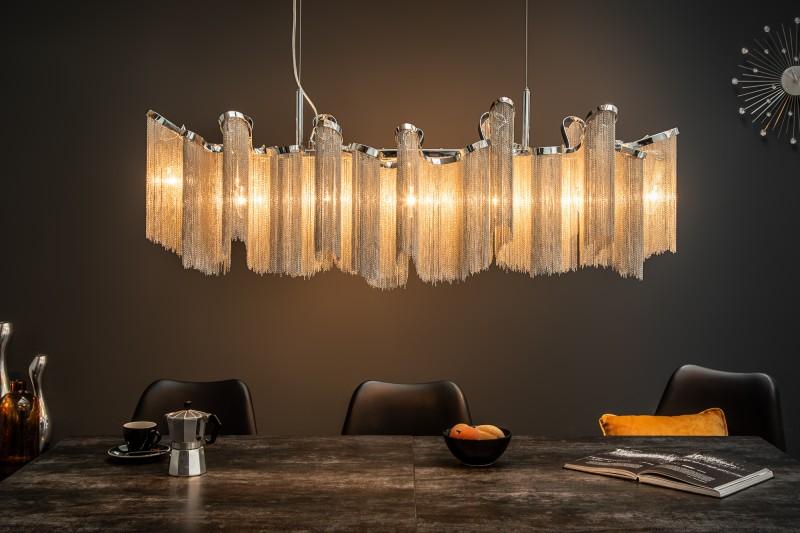 Závěsná lampa Sophie 118cm - stříbrná / 39107