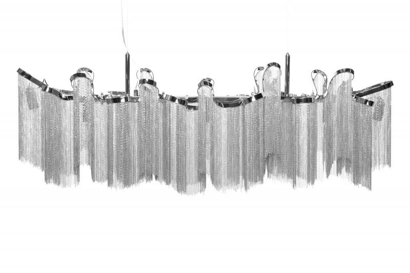 Závěsná lampa Sophie 76cm - stříbrná / 39108