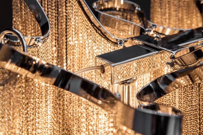 Závěsná lampa Sophie 146cm - stříbrná  / 39112