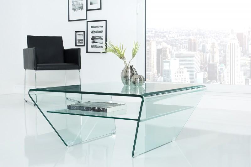 Konferenční stolek Fantome Trapeze 70cm x 70cm - sklo / 39054