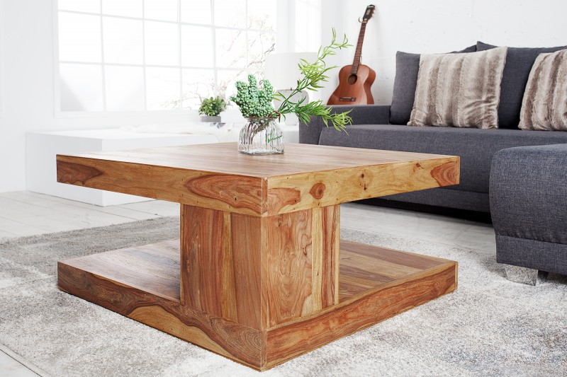 Konferenční stolek Massive 80cm x 80cm - Sheesham / 36333