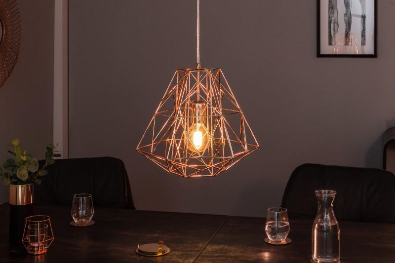 Závěsná lampa Jasper S - růžové zlato / 39318